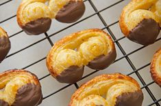 "Palmiers (Schweineohren) - This French pastry, also known as ""elephant ears"", can be found everywhere in Germany. The tips are usually dipped in chocolate, which I have not seen elsewhere. Schweineohren sold in German bakeries are much bigger. Mine are a miniature version, so they are more like piglet's ears. But they taste just like the orginal."