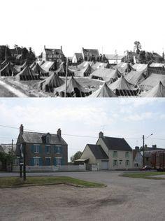 Then and now... General hospital Saint-Hilaire-Petitville near Carentan.
