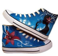 customizable canvas sneakers for women High-top Painted Canvas S,High-top Painted Canvas Shoes