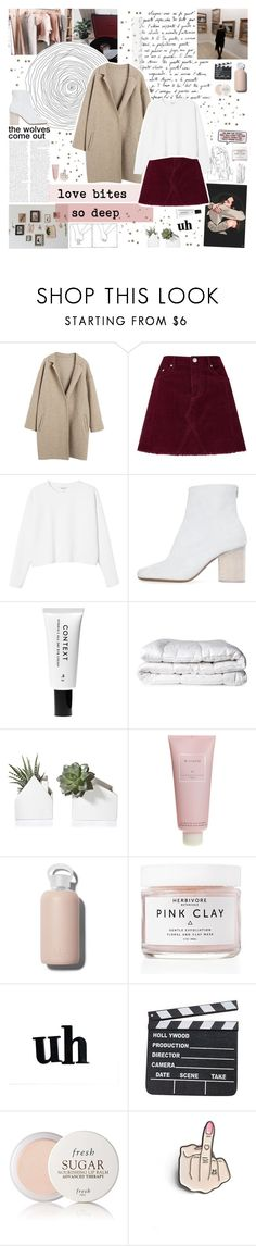 """""""i want you back"""" by www-purrtydino-org ❤ liked on Polyvore featuring Miss Selfridge, Mon Cheri, Monki, Maison Margiela, Context, Brinkhaus, Chantecaille, bkr, Herbivore and WALL"""