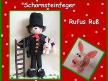 """Häkelanleitung """"Schornsteinfeger Rufus Ruß"""" schoorsteenveger"""