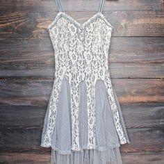 x shophearts - Ryu time will tell lace dress in grey - shophearts - 1