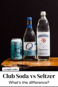 Club soda vs seltzer: what's the difference between these carbonated beverages? When to use one or the other? Here's what you need to know. | seltzer cocktails | soda water cocktails | club soda cocktails | #clubsoda #seltzer Sparkling Mineral Water, Natural Mineral Water, Refreshing Cocktails, Fun Cocktails, Best Cocktail Recipes, Drink Recipes, Classic Gin Drinks, Tequila Soda, White Wine Spritzer