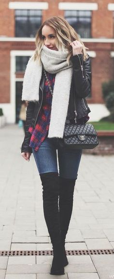 #winter #fashion / layers + plaid