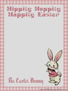 Download a free easter bunny letter template for ms word or little housewife easter and free printable letter from the easter bunny spiritdancerdesigns Image collections