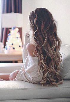 Long curls.