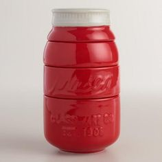 One of my favorite discoveries at WorldMarket.com: Red Mason Jar Measuring Cups