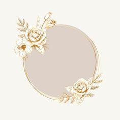 Logo Floral, Fond Design, Flower Graphic Design, Framed Wallpaper, Instagram Frame, Picture Logo, Badge Design, Logo Background, Free Logo