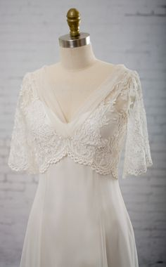 Wedding Dress of embroidered tulle with by MartinMcCreaCouture