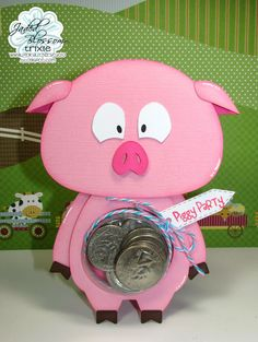 NEW Pig Treat Cup Card.  So super cute and easy to make.