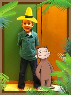 The app PBS KIDS Photo Factory is perfect for our Curious George party! I will just take a picture of my boy with each guest as they arrive and later email them a thank you note with Curious George added to the picture. Love it!