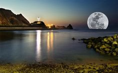 *moon rising from the Sea, Oman