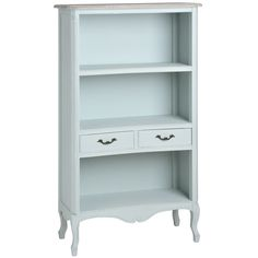 Shabby chic Country Duck Egg Blue bookcase display shelf unit CABINET