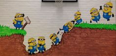 Minion Classroom, Ks1 Classroom, Classroom Displays, Bulletin Board Design, Bulletin Boards, Growth Mindset Display, Birthday Display, Visible Learning, Mind Up