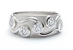 Capri Jewelers Arizona ~ www.caprijewelersaz.com Forevermark- 5-Stone Ladie's Bezel Set Diamond Wedding Band