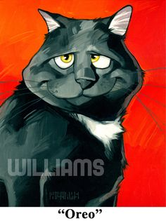 by Georg Williams Limited edition print signed and numbered by the artist. Animal Paintings, Animal Drawings, Indian Paintings, Art Paintings, Image Chat, Cat Character, Cat Quilt, Cat Drawing, Cat Love