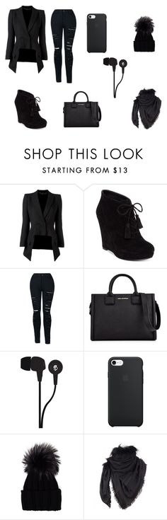 """Black collection"" by terka-straussova on Polyvore featuring Alexander McQueen, Jessica Simpson, Karl Lagerfeld, Skullcandy, Inverni and Gucci"
