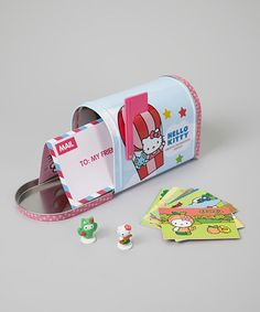 Take a look at this Hello Kitty Deluxe Collector Mailbox by Hello Kitty on #zulily today!