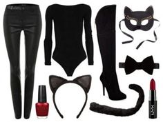 Lorna's Look Halloween is just three days away and if you haven't thought about your outfit yet, we are here to help. We put together a round up of outfits that involve denim last week, which disfraz gatubela disfraz gatubela Purim Costumes, Cat Costumes, Costumes For Women, Halloween Kostüm, Diy Halloween Costumes, Halloween Kleidung, Maquillage Halloween, All Black Outfit, Halloween Disfraces
