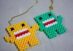 domo best friend necklace/ chain made out of perler beads