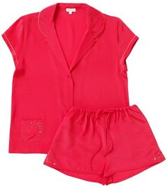 d202879abae5 Aloe Red Raspberry Silk Crepe Peony Pyjamas Silk Pajamas