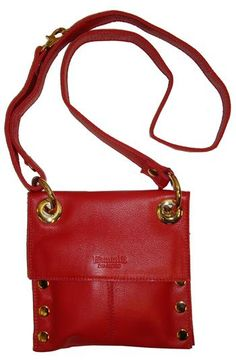 Hammitt Los Angeles Mini Montana Scarlet Leather Bag With Gold Hardware Adjule