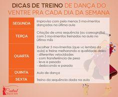 Central Dança do Ventre - Treinos de Dança do Ventre pra cada dia da semana