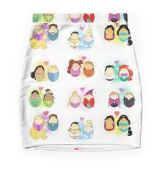 """""""Couples of Disney"""" Pencil Skirts by LaurasLovelies 