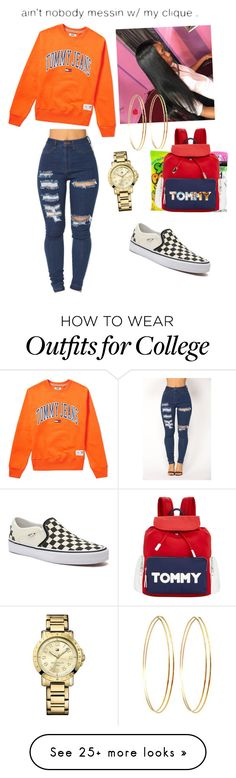 """""""Chill days"""" by asiaboyd417 on Polyvore featuring Tommy Hilfiger, Vans, Jules Smith and Grotesk"""
