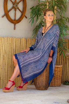 Lotta Stensson Ikat Poncho! This best seller comes in multiple different colors... #lottastensson #lottanyc #fashion #beachwear #resortwear #lottalove