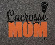 Custom Lacrosse Mom Hoodie, Sweatshirt, Long sleeves or T-shirt!! Customize for your favorite colors or team name! Glitter Lacrosse Shirt