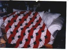 patriotic quilts log cabin star by ann_champion, via Flickr