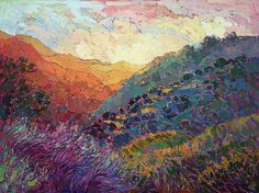Wine Country Painting - Mandarin Hills by Erin Hanson