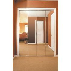 Impact Plus Beveled Edge Mirror Solid Core Chrome MDF Interior Bifold  Closet Door BMP3423068C At The Home Depot | Project | Perry Residence |  Pinterest ...