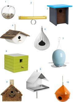 Modern Bird Houses And Bird Feeders