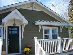 Pergola over window. Sixty-Fifth Avenue: Craftsman style cottage