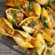 Taco Stuffed Shells - Mexican meets Italian.  Made a few changes and it was delicious.  Should of taken a picture.