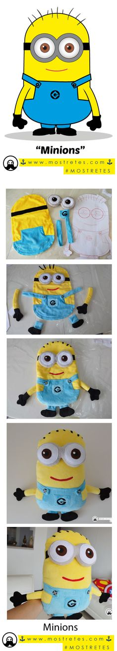 Minions  Adorable y apapachable peluche plush #mostretes de #minions… Minion Bag, Minion Doll, Minion Crochet Patterns, Minion Pattern, Minion Birthday, Minion Party, Stitch Toy, Cast On Knitting, Felt Ornaments Patterns