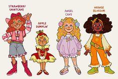 Cartoon Sketches, Cartoon Art Styles, Fanart, Strawberry Shortcake Characters, Banana Art, Kawaii Doodles, Cute Art Styles, Pretty Art, Character Design Inspiration