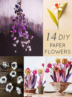 DesignSponge DIY Paper Flowers