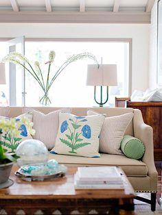 Blue and Green Accents