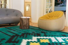 Dare to Rug, FRISKY Frisky and Dyad Rugs spotted at Milan Design Week by Archiproducts. Living Room Wall Designs, Small Living Room Design, Living Room Art, Wall Art Designs, Beautiful Living Rooms, Bean Bag Chair, Wall Decor, Milan Design, Interior Design