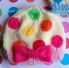polka dot hat This one is knit, but use as inspiration for crochet Crochet Woman, Crochet Baby, Knit Crochet, Polka Dot Party, Polka Dots, Dot Day, Dots Fashion, Knit Patterns, Knitting Projects