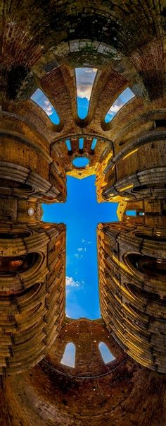 The Cross - San Galano Abbey, Tuscany | Igor Menaker Photography #ItalyPlanning #ItalyArchitecture #ItalyTravelInspiration #ItalyTrip #ItalyArt
