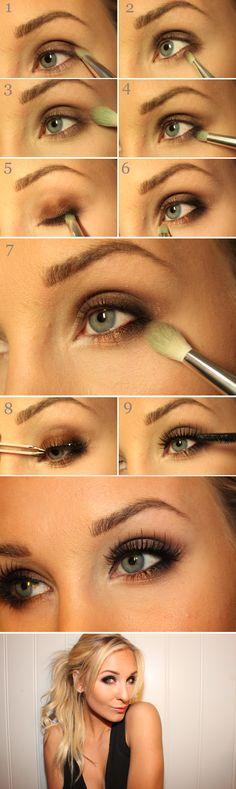 Smokey eyes tutorial by swedish beautyblogger Helen Torsgården