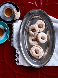 Almendrados - light & airy lemon & almond cookies have a crunchy exterior with a soft, chewy inside