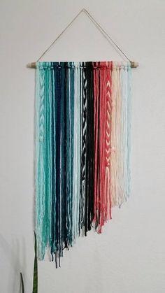 Yarn Wall Art, Yarn Wall Hanging, Wall Hangings, Bohemian Tapestry, Wall Tapestry, Tapestry Weaving, Bohemian Decor, Southwest Decor, Macrame Plant Hangers
