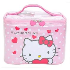 Sanrio Hello Kitty Women Makeup Bag Travel Cosmetic Box Organizer Case Pouch   SanrioJapan 352a4c1fc6221