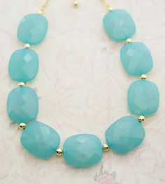Aquamarine Chunky Necklace
