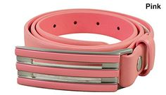 Adidas Golf- Ladies Trophy Belt Made by #adidas Color #Pink. 3-Stripes adidas brandmark brushed metal buckle. Full grain leather. Interchangeable buckle